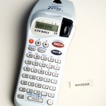 A hand-held label printer from Dymo.